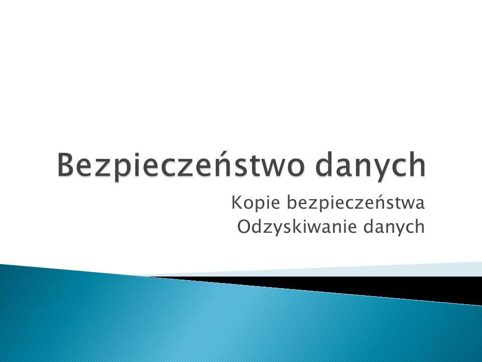 Dane 1Dane 2Bit parzystości 000 011 101 110 Bezpieczeństwo danych - Festiwal Technologii - Leszno 2012 Mariusz Terebecki