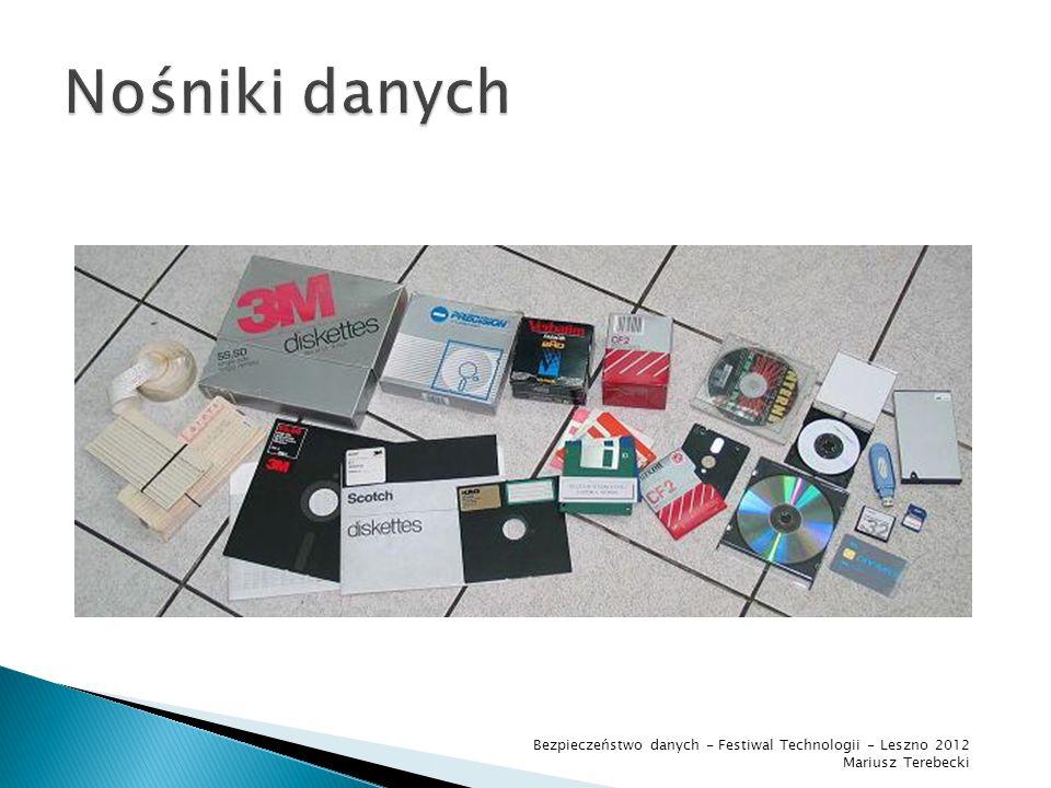 Sposoby przekazywania informacji Bezpieczeństwo danych - Festiwal Technologii - Leszno 2012 Mariusz Terebecki