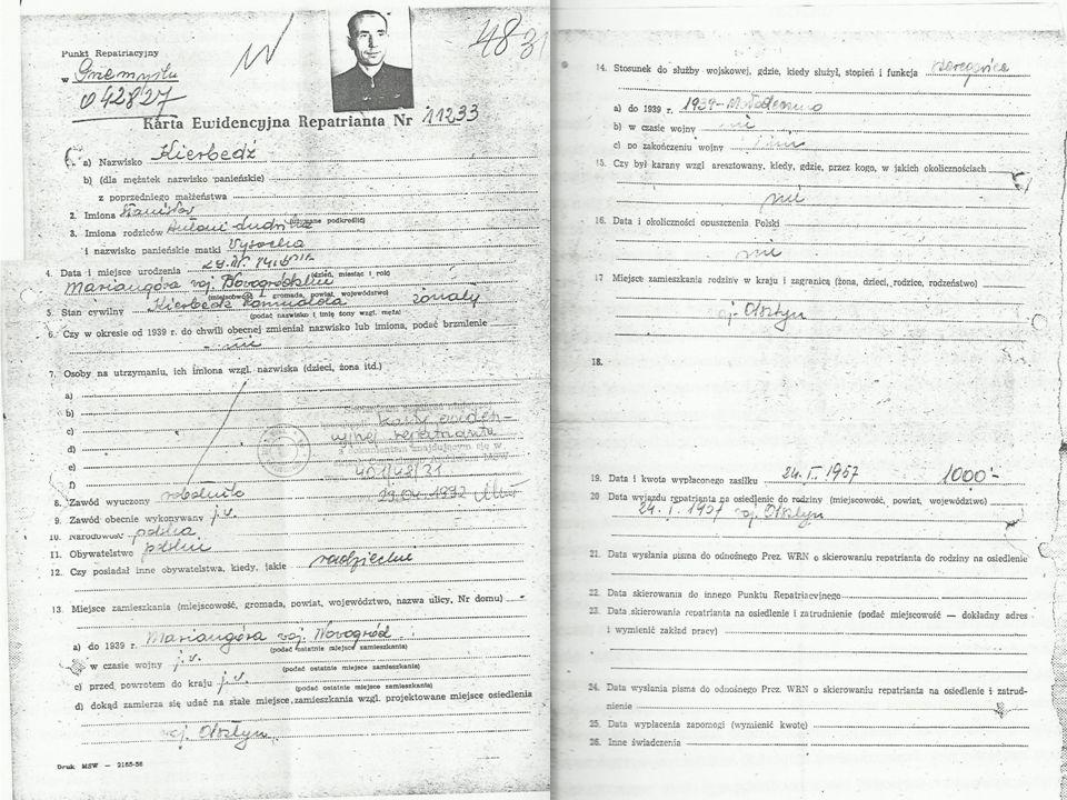 Zdjęcie do Karty Repatrianta. Od lewej Czesia, ja i Honorata.