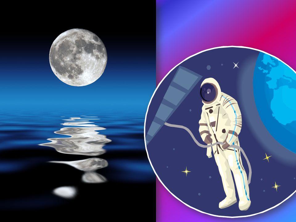 Księżyc krąży w odległości zaledwie 380 000 km od Ziemi.