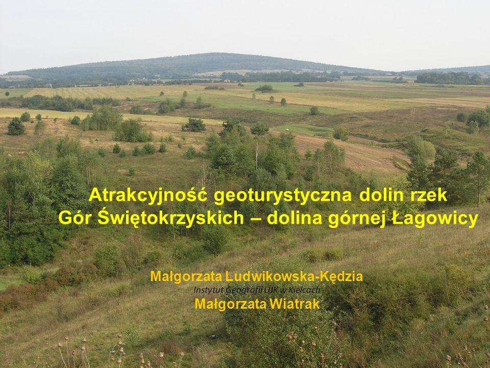 Zwrócenie uwagi na potencjał geoturystyczny małych dolin rzek Gór Świętokrzyskich, których specyficzny rozwój, determinowany w dużym stopniu uwarunkowaniami morfostrukturalnymi jak i litologicznymi podłoża paleozoicznego, pozwala na łatwość obserwacji i możliwość dokumentacji różnorodnych obiektów przyrody nieożywionej.