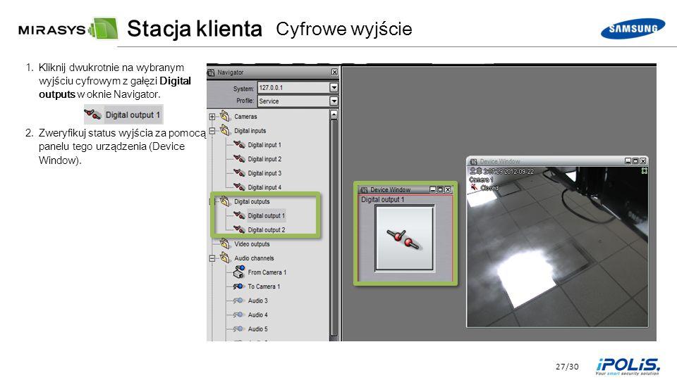 27/30 1.Kliknij dwukrotnie na wybranym wyjściu cyfrowym z gałęzi Digital outputs w oknie Navigator.