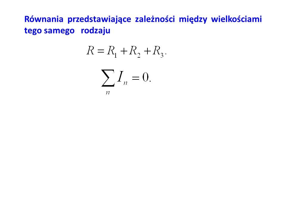 Równania funkcyjne Natężenie prądu płynącego w przewodniku w stałej temperaturze jest wprost proporcjonalne do napięcia przyłożonego do końców tego przewodnika.
