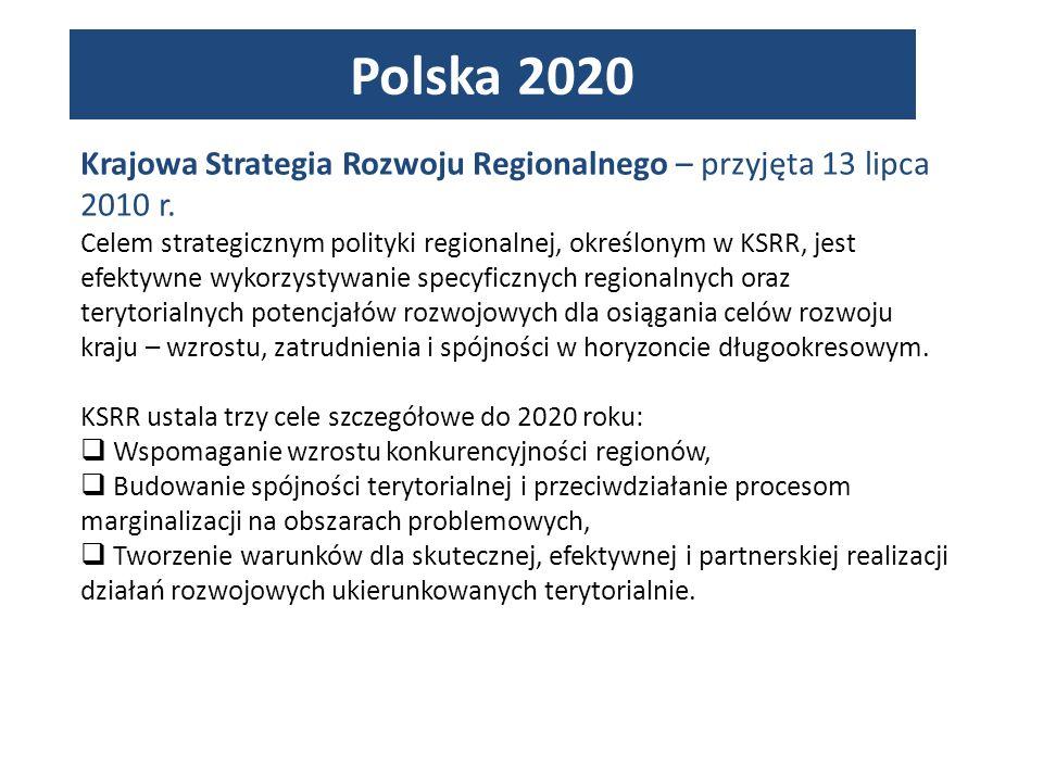 Krajowa Strategia Rozwoju Regionalnego – przyjęta 13 lipca 2010 r.