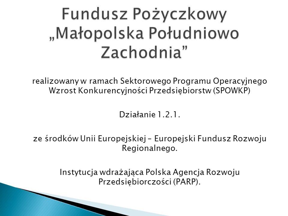 realizowany w ramach Sektorowego Programu Operacyjnego Wzrost Konkurencyjności Przedsiębiorstw (SPOWKP) Działanie 1.2.1.