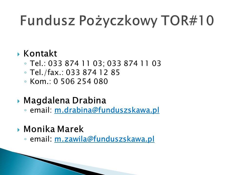 Kontakt Tel.: 033 874 11 03; 033 874 11 03 Tel./fax.: 033 874 12 85 Kom.: 0 506 254 080 Magdalena Drabina email: m.drabina@funduszskawa.pl Monika Marek email: m.zawila@funduszskawa.pl
