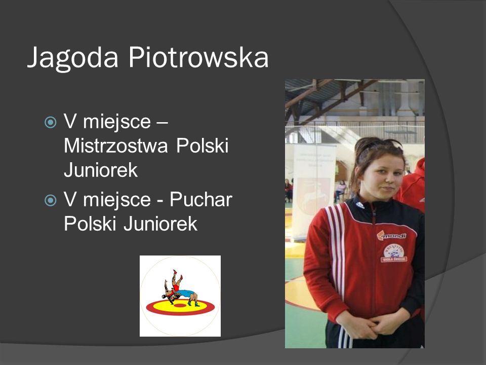 Jagoda Piotrowska V miejsce – Mistrzostwa Polski Juniorek V miejsce - Puchar Polski Juniorek