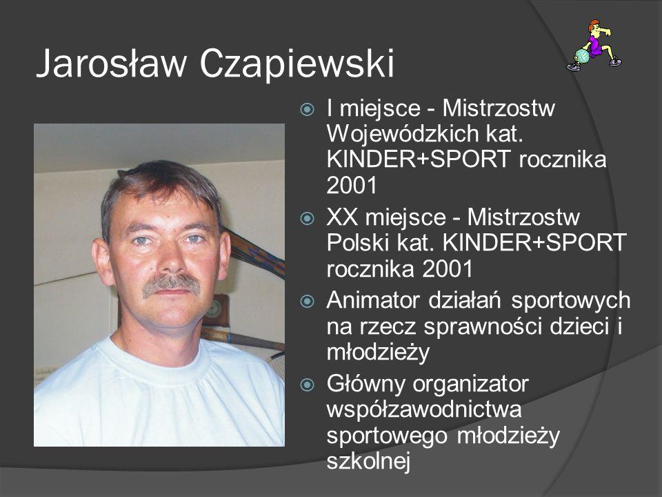 Jarosław Czapiewski I miejsce - Mistrzostw Wojewódzkich kat. KINDER+SPORT rocznika 2001 XX miejsce - Mistrzostw Polski kat. KINDER+SPORT rocznika 2001
