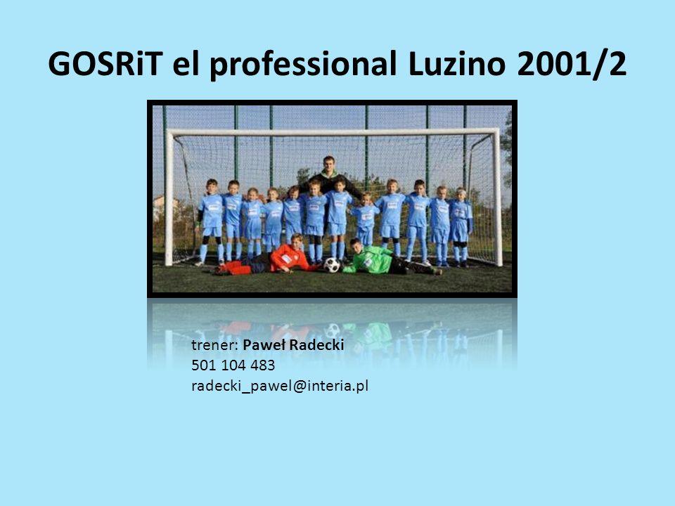 GOSRiT el professional Luzino 2001/2 trener: Paweł Radecki 501 104 483 radecki_pawel@interia.pl