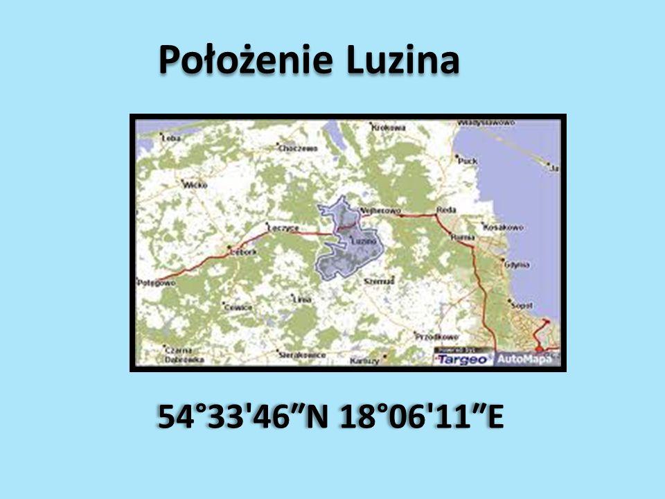 Położenie Luzina 54°33'46N 18°06'11E