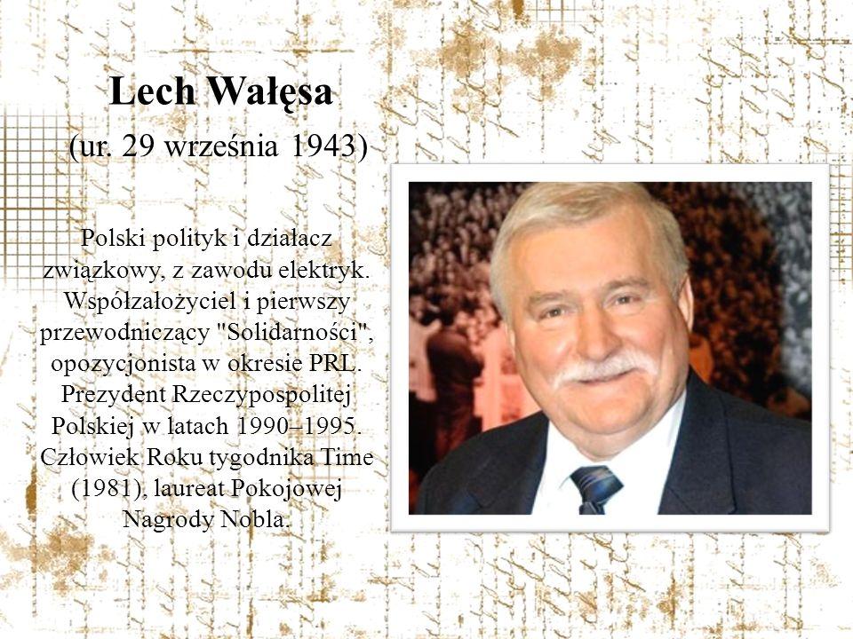 Polski polityk i działacz związkowy, z zawodu elektryk. Współzałożyciel i pierwszy przewodniczący
