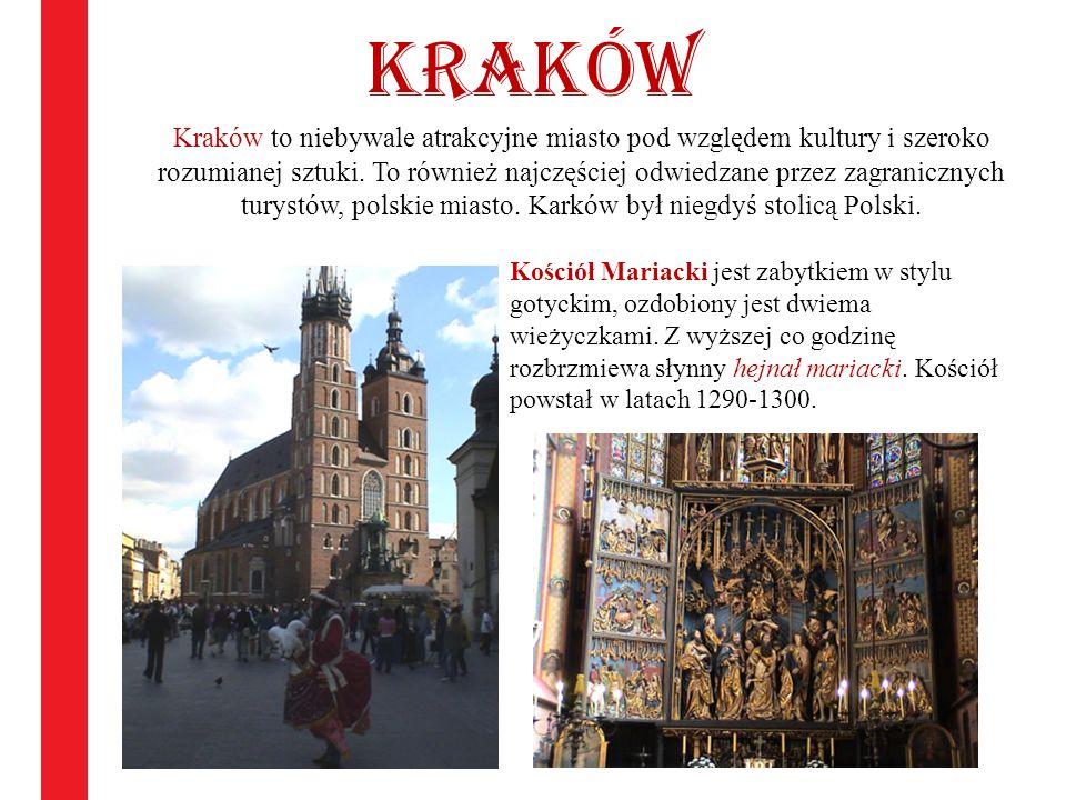 Kraków Kraków to niebywale atrakcyjne miasto pod względem kultury i szeroko rozumianej sztuki. To również najczęściej odwiedzane przez zagranicznych t