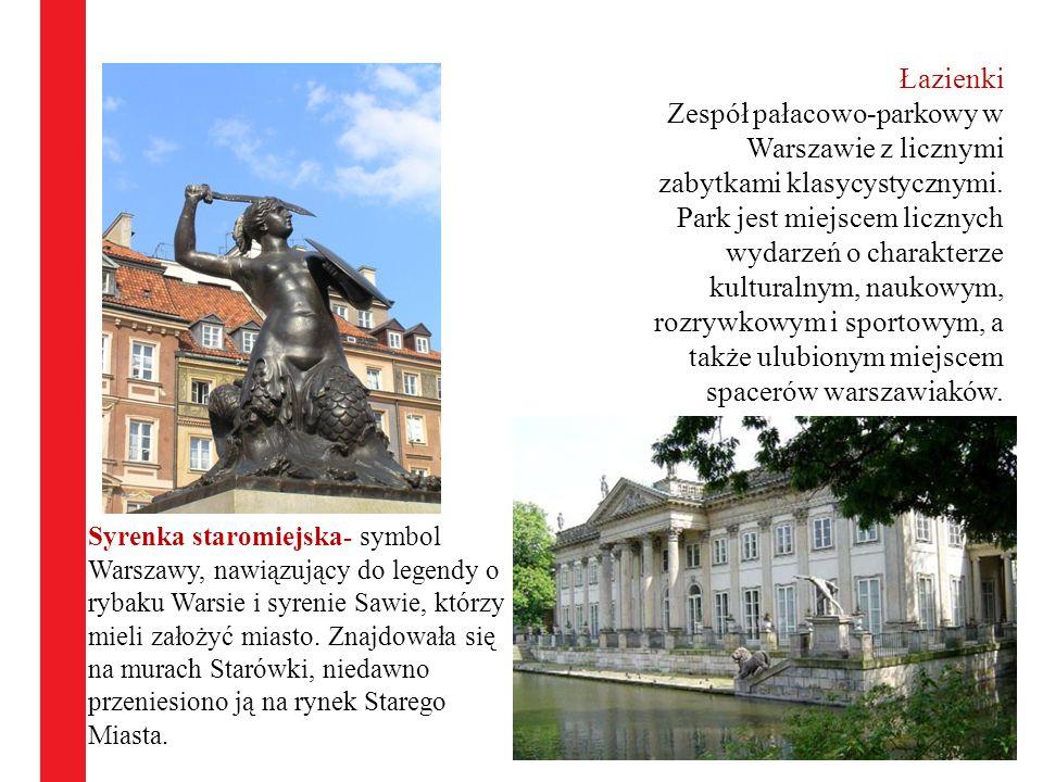 Syrenka staromiejska- symbol Warszawy, nawiązujący do legendy o rybaku Warsie i syrenie Sawie, którzy mieli założyć miasto. Znajdowała się na murach S