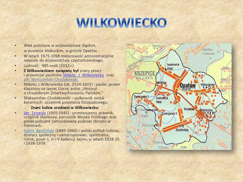 Wieś położona w województwie śląskim, w powiecie kłobuckim, w gminie Opatów. W latach 1975-1998 miejscowość administracyjnie należała do województwa c