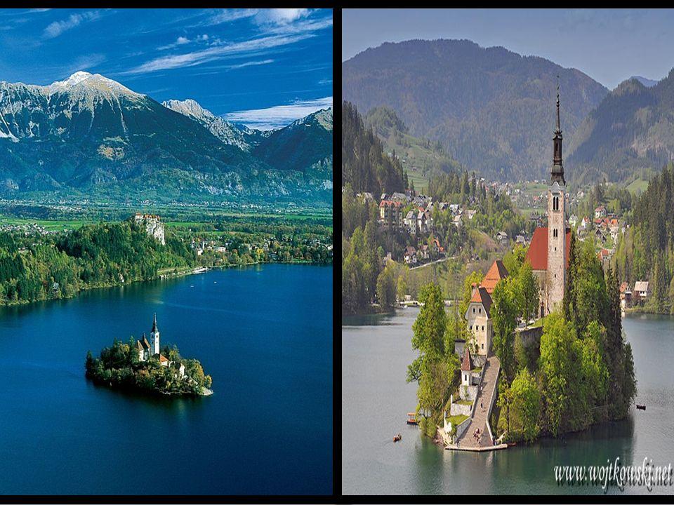 Jezioro Bled – Lake Bled Jezioro polodowcowe w Alpach Julijskich, w północno- zachodniej Słowenii. Zajmuje powierzchnię 1,44 km. W zachodniej części j