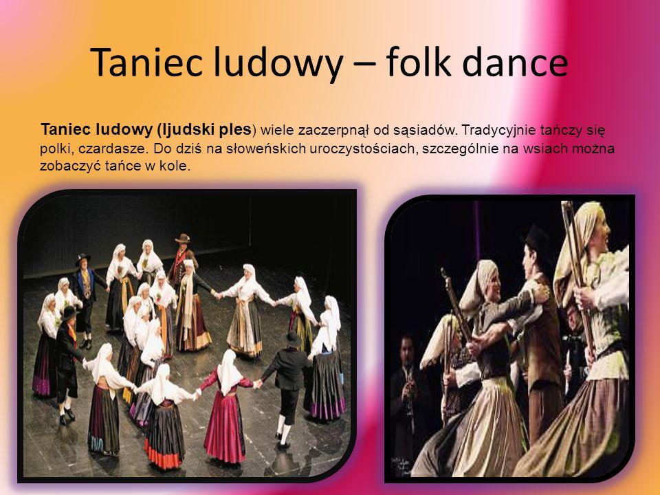 Muzyka ludowa – folk music Swoje korzenie ma w pieśniach śpiewanych podczas obrzędów i ceremonii pogańskich. Śpiewom towarzyszyły tradycyjne instrumen