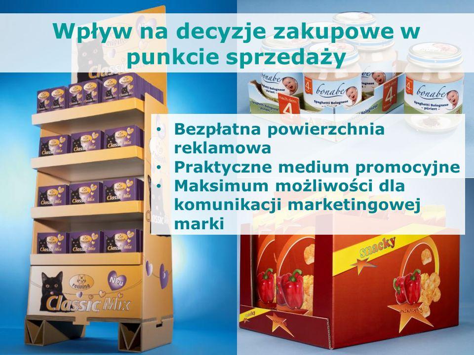 Bezpłatna powierzchnia reklamowa Praktyczne medium promocyjne Maksimum możliwości dla komunikacji marketingowej marki Wpływ na decyzje zakupowe w punk