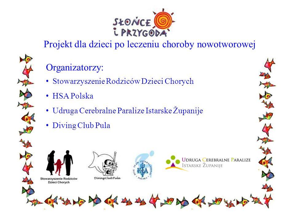 Projekt dla dzieci po leczeniu choroby nowotworowej Organizatorzy: Stowarzyszenie Rodziców Dzieci Chorych HSA Polska Udruga Cerebralne Paralize Istars