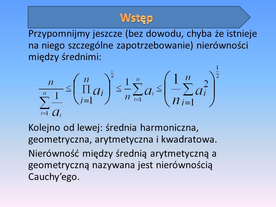 Na początek rozwiążemy zadanie z XV Zawodów Matematycznych Państw Bałtyckich.