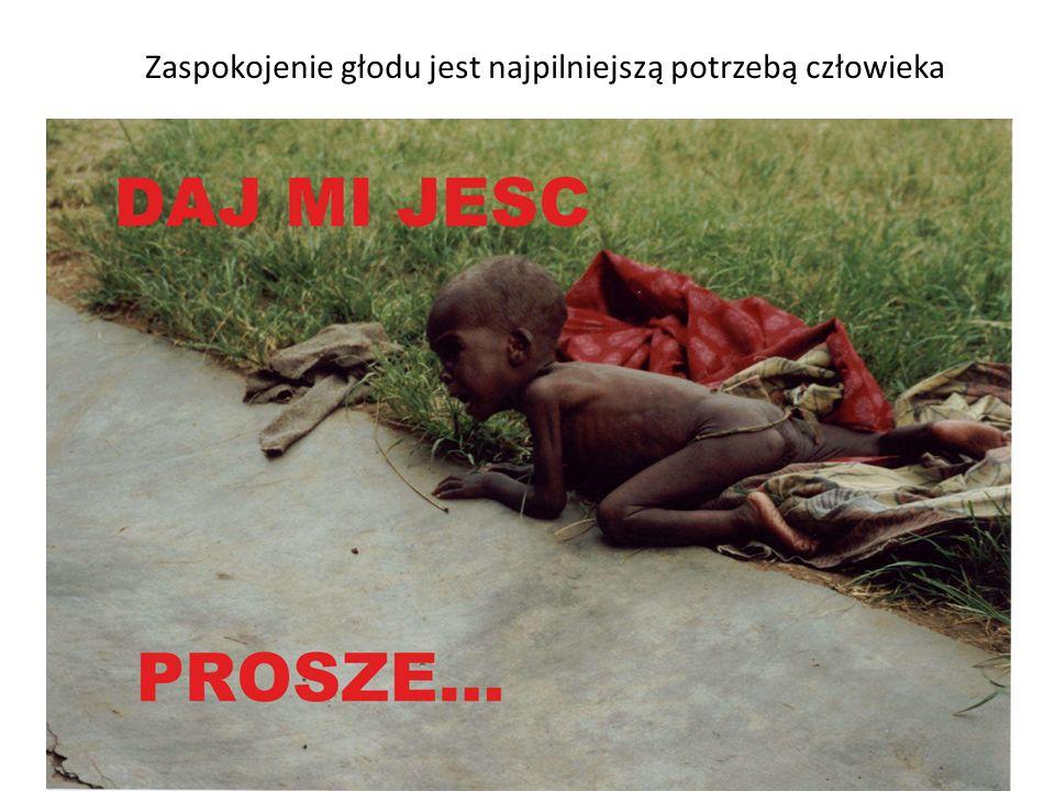 Zaspokojenie głodu jest najpilniejszą potrzebą człowieka