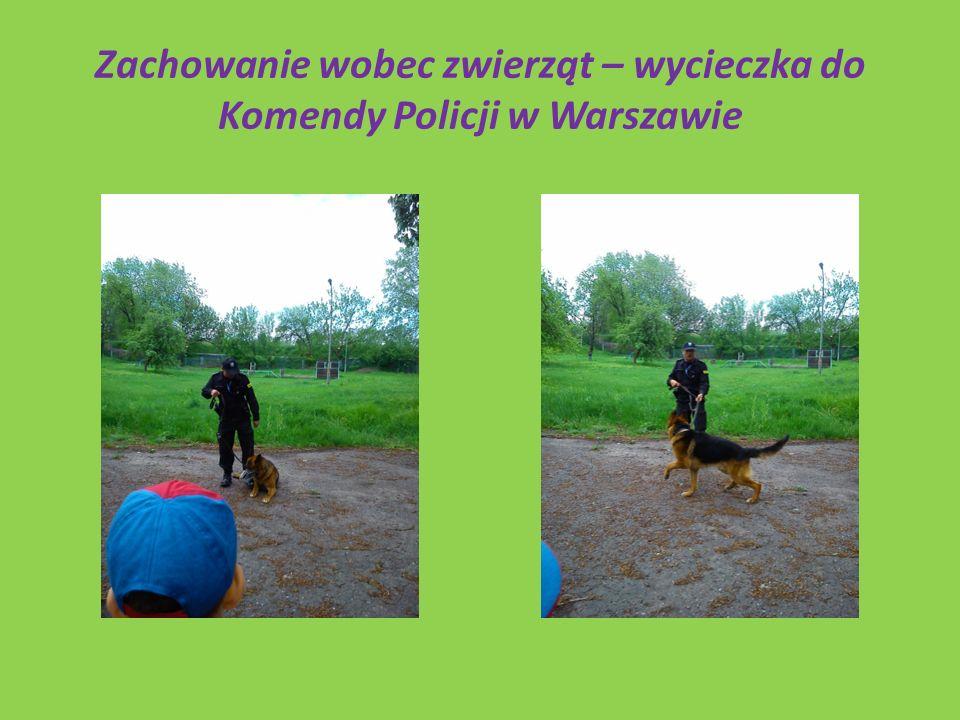 Zachowanie wobec zwierząt – wycieczka do Komendy Policji w Warszawie