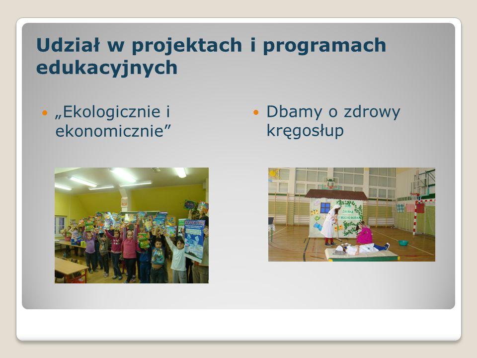 Udział w projektach i programach edukacyjnych Ekologicznie i ekonomicznie Dbamy o zdrowy kręgosłup