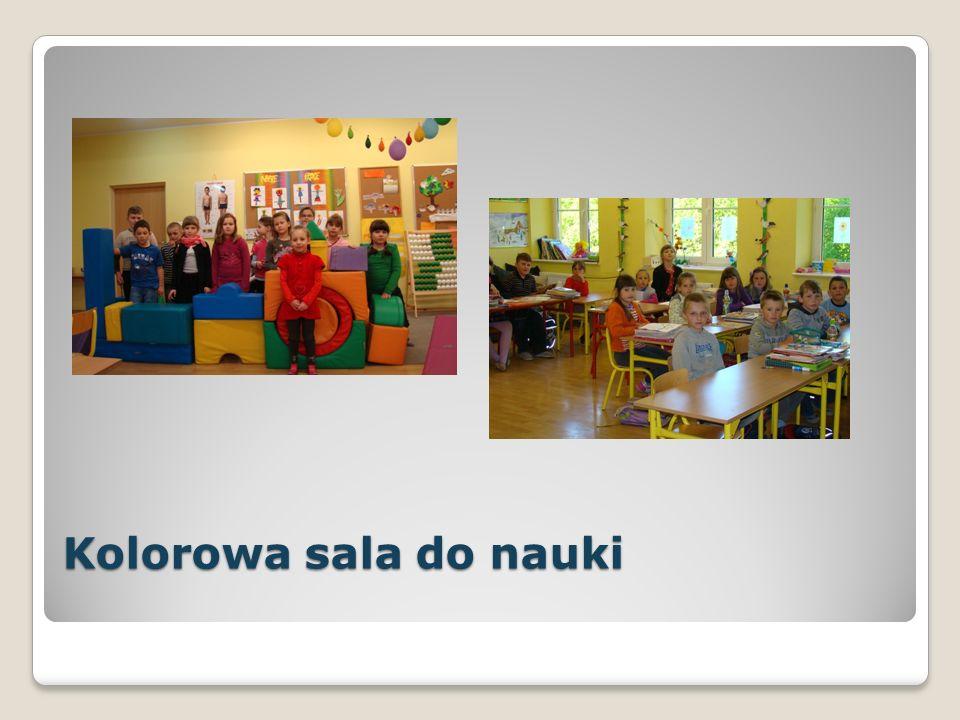 Kolorowa sala do nauki