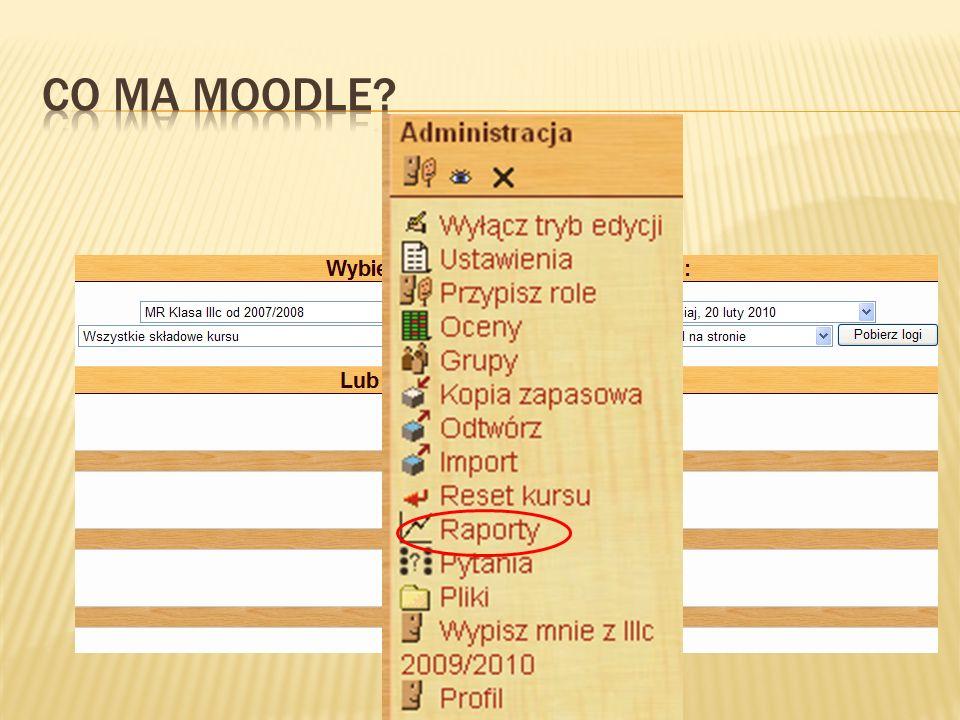 Czasem jest problem z interpretacją plików przesyłanych przez Moodle po stronie przeglądarki, ale w Firefoxie trzeba specjalnie ustawić opcje, albo korzystać z IE.