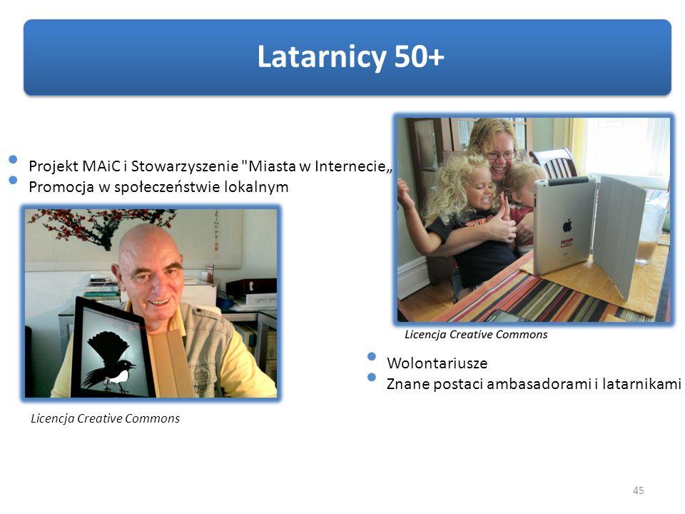 45 Latarnicy 50+ Licencja Creative Commons Projekt MAiC i Stowarzyszenie