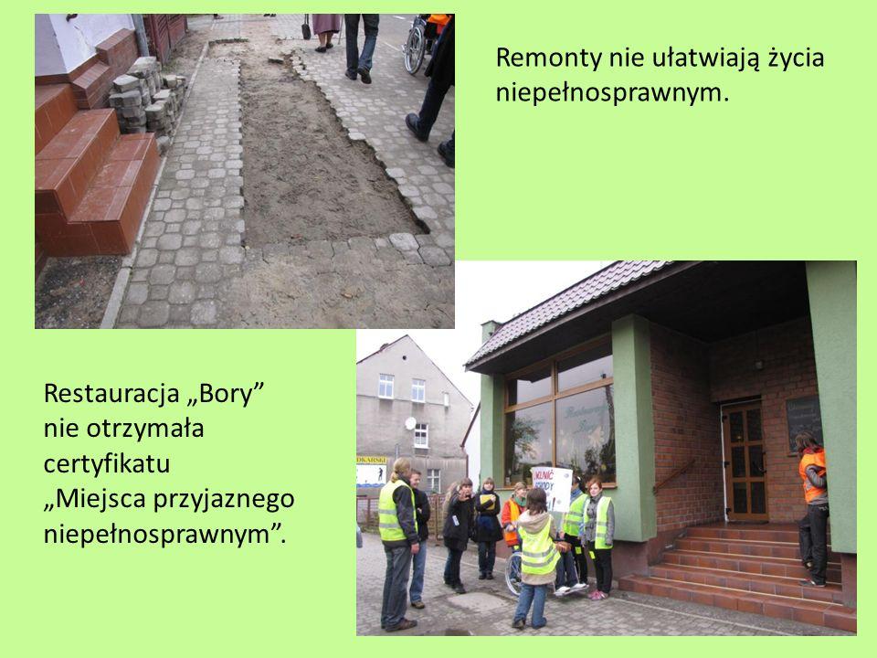 Miejsca, którym młodzież przyznała certyfikaty Miejsce Przyjazne Niepełnosprawnym: TOK Netto Biedronka Piast Kościoły Apteki Poczta PKO ZSO SP 3 SP 1 kl.
