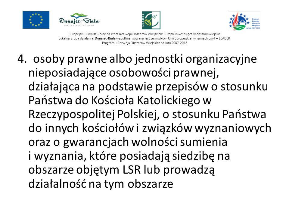 Europejski Fundusz Rolny na rzecz Rozwoju Obszarów Wiejskich: Europa inwestująca w obszary wiejskie Lokalna grupa działania: Dunajec-Biała współfinans