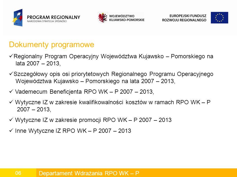 Departament Wdrażania RPO WK – P 17 Cel działania: Stosowanie w usługach publicznych technologii informacyjnych i komunikacyjnych.