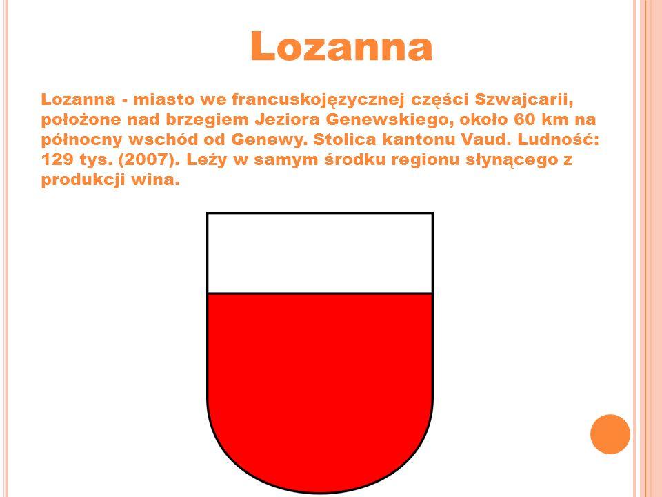 Lozanna Lozanna - miasto we francuskojęzycznej części Szwajcarii, położone nad brzegiem Jeziora Genewskiego, około 60 km na północny wschód od Genewy.