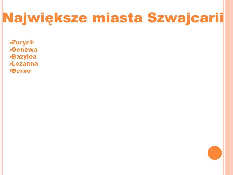 Największe miasta Szwajcarii Zurych Genewa Bazylea Lozanna Berno