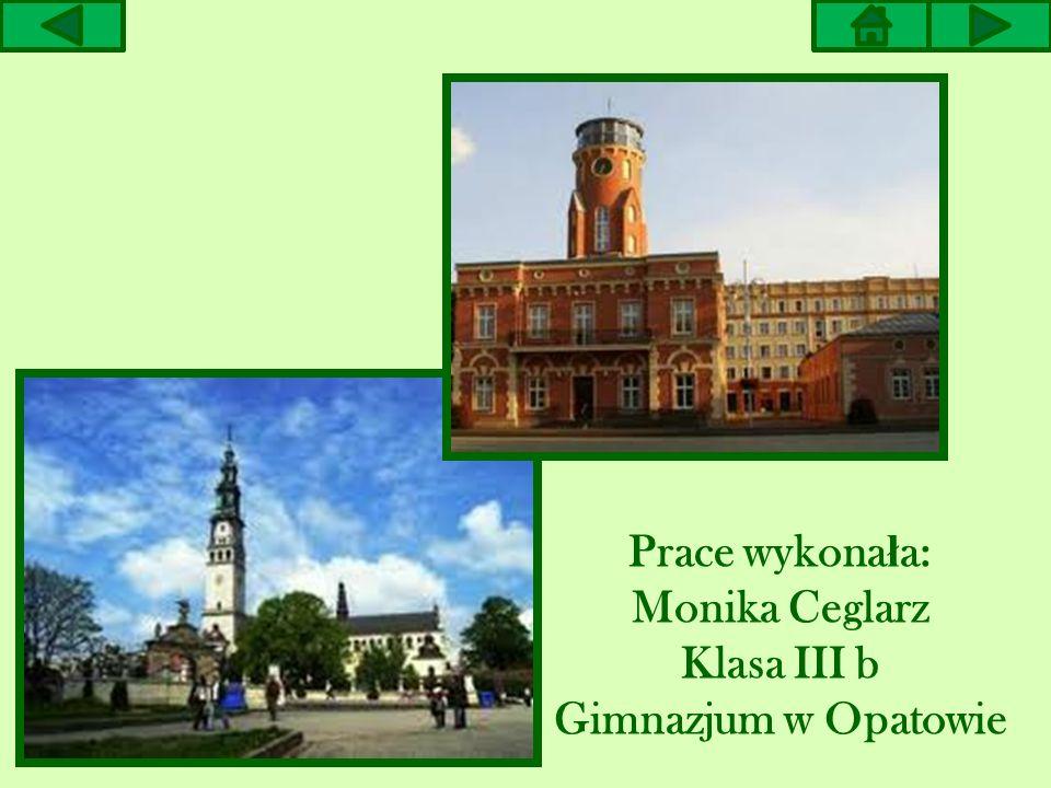 Prace wykona ł a: Monika Ceglarz Klasa III b Gimnazjum w Opatowie