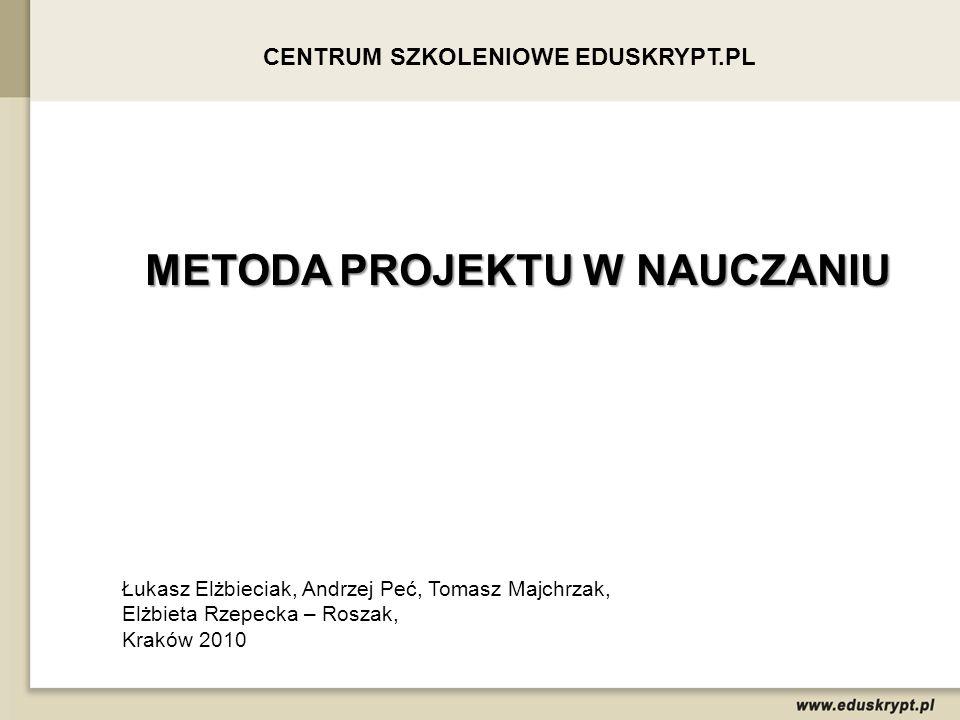 PROGRAM Projekt edukacyjny jako metoda nauczania.Rodzaje i cechy projektu.