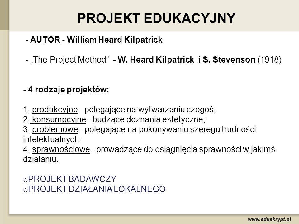 Projekt jest metodą, która może być stosowana w pracy dydaktycznej, jak i wychowawczej.