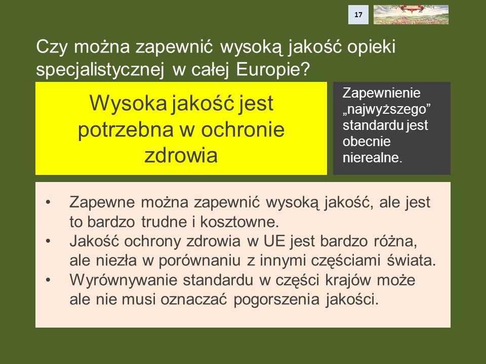 Czy można zapewnić wysoką jakość opieki specjalistycznej w całej Europie.