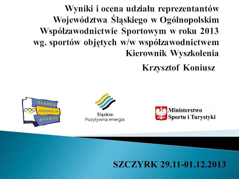 SZCZYRK 29.11-01.12.2013