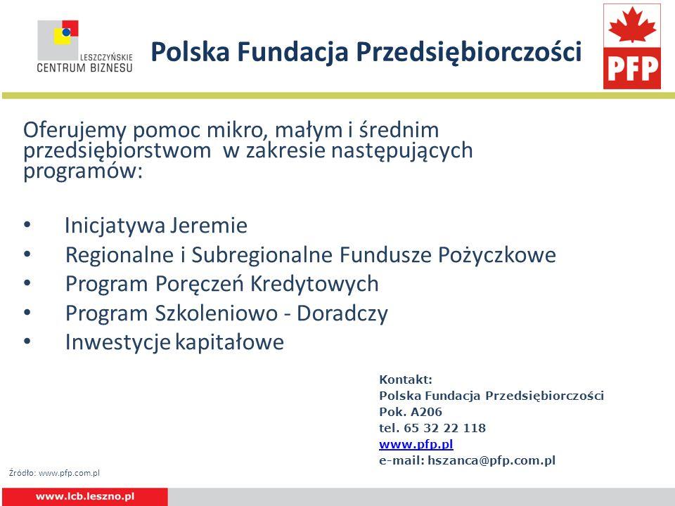 Polska Fundacja Przedsiębiorczości Oferujemy pomoc mikro, małym i średnim przedsiębiorstwom w zakresie następujących programów: Inicjatywa Jeremie Reg