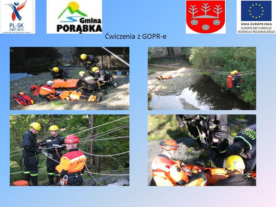 - Kolejny etap realizacji projektu obejmował organizację po polskiej i słowackiej stronie granicy 8 ćwiczeń taktyczno- operacyjnych w tych samych grup