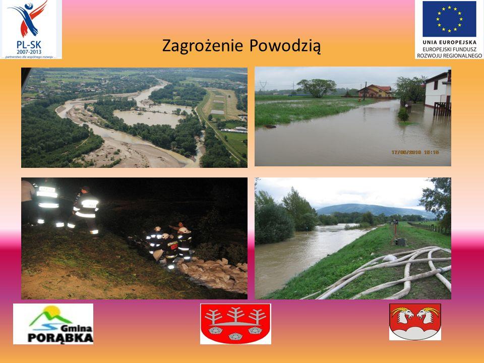IDEA I PRZYGOTOWANIE PROJEKTU - duża częstotliwość występowania sytuacji powodziowych po obu stronach granicy spowodowanych rzekami Soła, Kysuce i lokalnymi potokami górskimi, - braki w specjalistycznym wyposażeniu przeciwpowodziowym polskich i słowackich jednostek straży pożarnej, - wcześniejsza organizacja wspólnych zawodów pożarniczych oraz uczestnictwo w uroczystościach strażackich, - opracowanie wspólnej koncepcji projektu pn.: Współpraca strażaków bez granic.