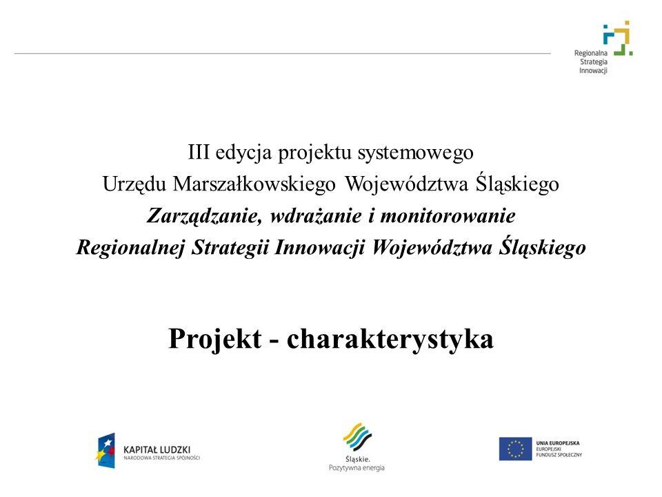 III edycja projektu systemowego Urzędu Marszałkowskiego Województwa Śląskiego Zarządzanie, wdrażanie i monitorowanie Regionalnej Strategii Innowacji W