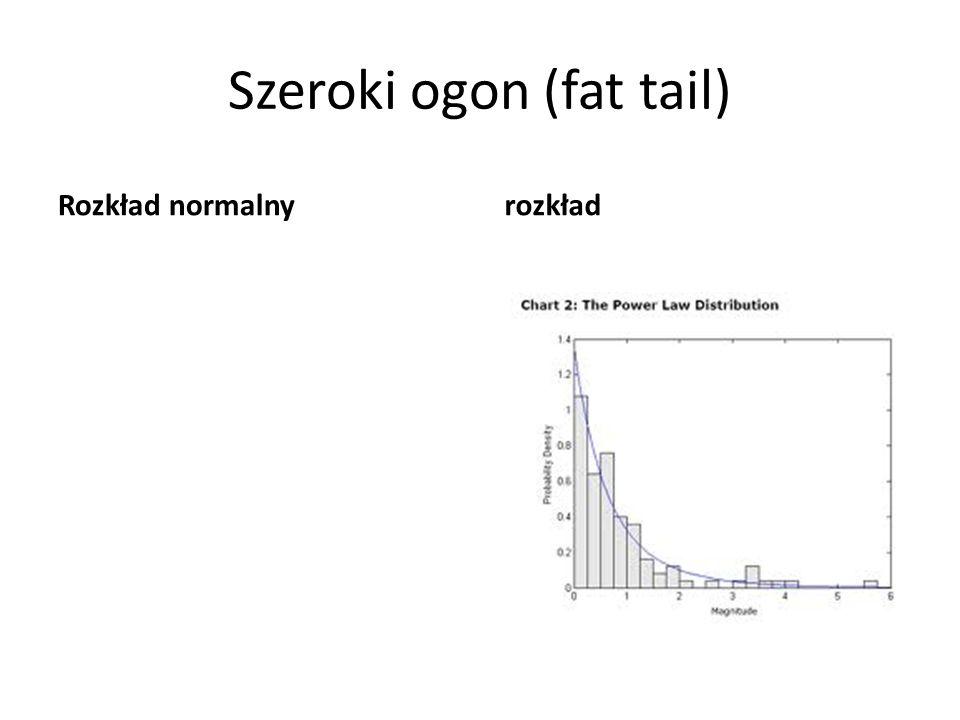 Szeroki ogon (fat tail) Rozkład normalny rozkład