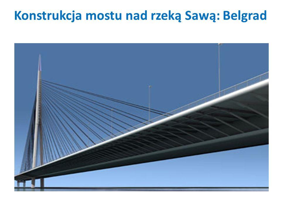 Konstrukcja mostu nad rzeką Sawą: Belgrad