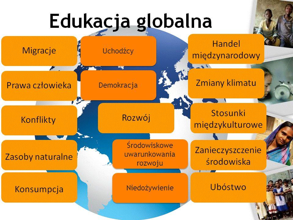 Edukacja globalna 4 Źródło: www.ceo.org.pl Środowiskowe uwarunkowania rozwoju Demokracja Niedożywienie Uchodźcy