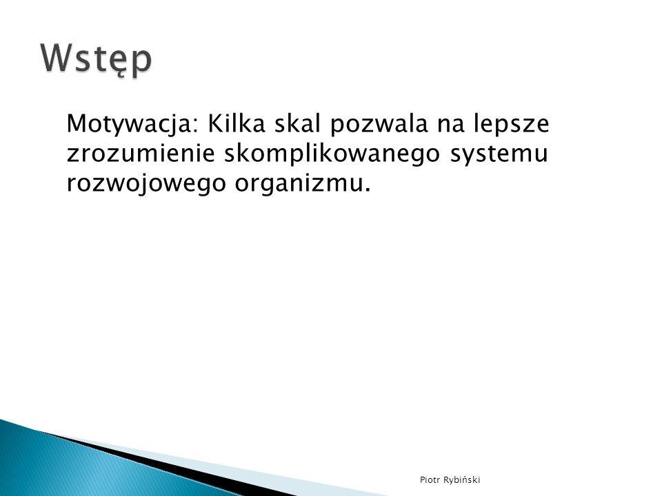 Motywacja: Kilka skal pozwala na lepsze zrozumienie skomplikowanego systemu rozwojowego organizmu.