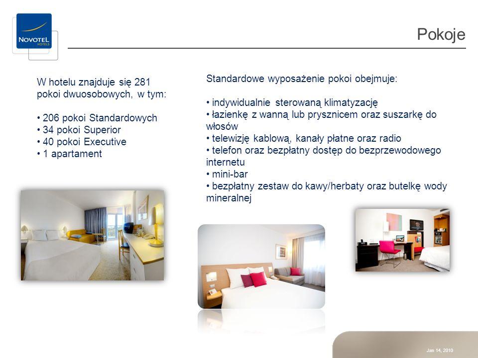 Jan 14, 2010 Pokoje W hotelu znajduje się 281 pokoi dwuosobowych, w tym: 206 pokoi Standardowych 34 pokoi Superior 40 pokoi Executive 1 apartament Sta