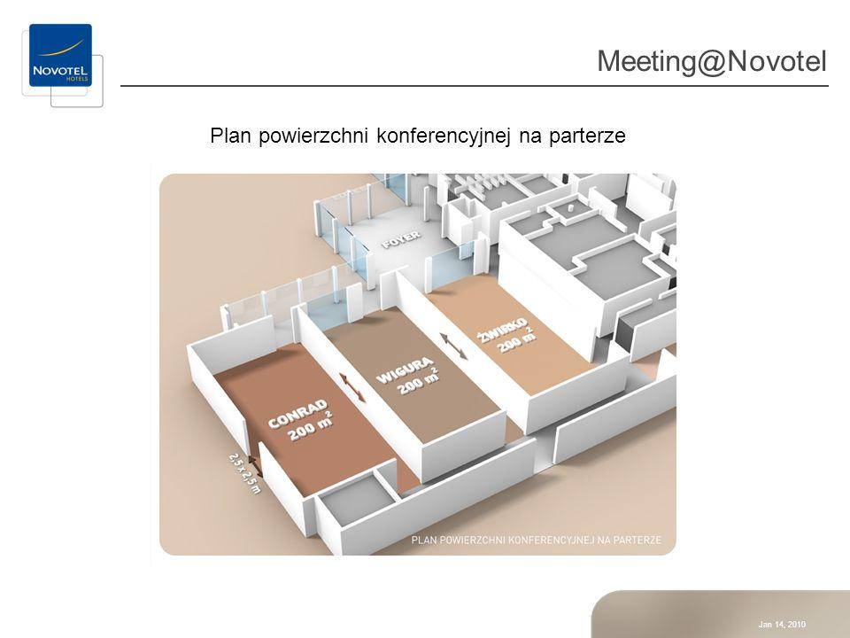 Jan 14, 2010 Meeting@Novotel Plan powierzchni konferencyjnej na pierwszym piętrze