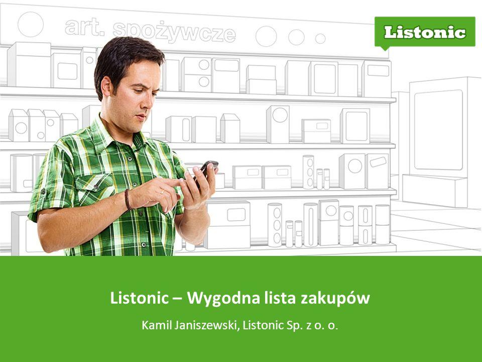 Listonic – Wygodna lista zakupów Kamil Janiszewski, Listonic Sp. z o. o.